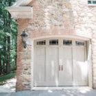 stone facing garage