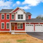 large house with red siding