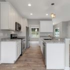 White Kitchen with open layout