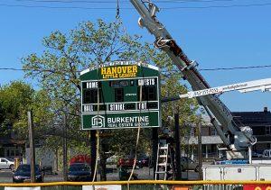 hanover little league baseball sponsor green board
