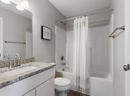 bathroom gray cabinets