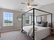 master bedroom black bed frame