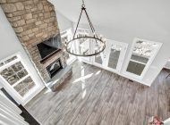 burkentine builders farmhouse light fireplace living room