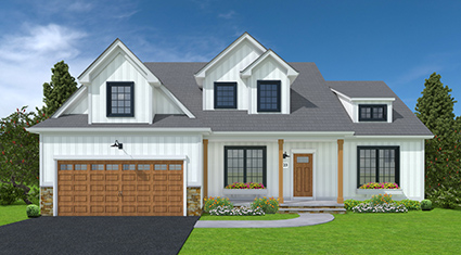 Burkentine Builders Hanover PA Farmhouse Series The Salem New custom home build